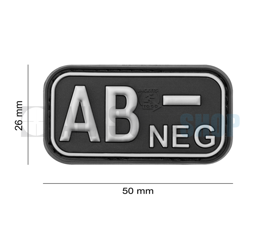 Bloodtype Rubber Patch AB NEG (SWAT)