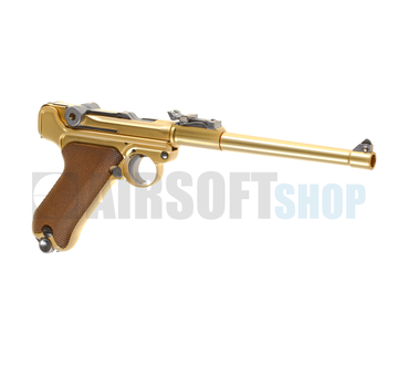 WE P08 8 Inch Full Metal GBB (Gold)