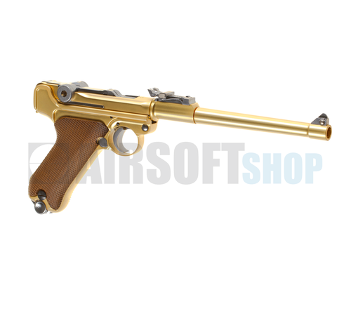 WE P08 8 Inch Full Metal GBB (Gold)