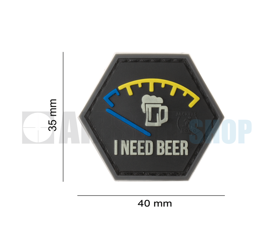 I need Beer Rubber Patch (Blue)