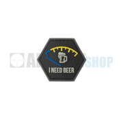 JTG I need Beer Rubber Patch (Blue)