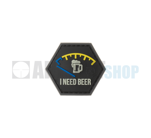 JTG I need Beer Rubber Patch (Blue)