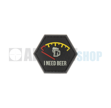 JTG I need Beer Rubber Patch (Red)