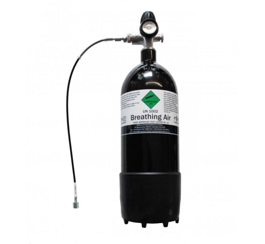 Duikfles 4 liter 300 BAR + Mano + 500mm 1/8″ BSB H&B