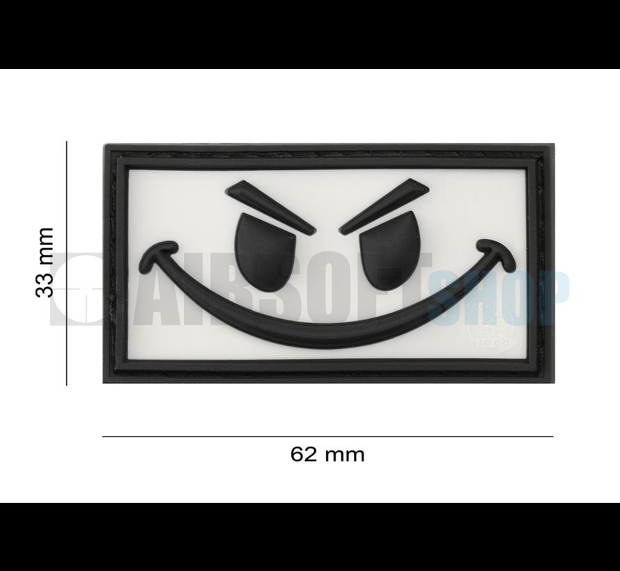Evil Smiley PVC Patch (White)