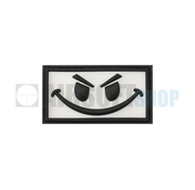 JTG Evil Smiley PVC Patch (White)