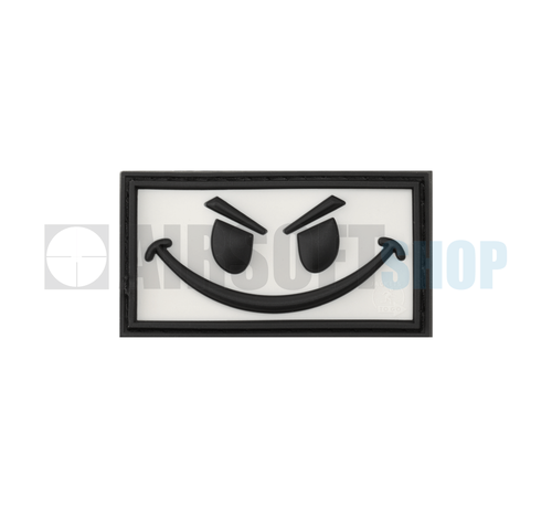 JTG Evil Smiley PVC Patch (White)