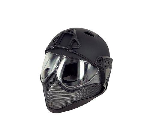 WARQ Full Face Mask & Helmet (Black)