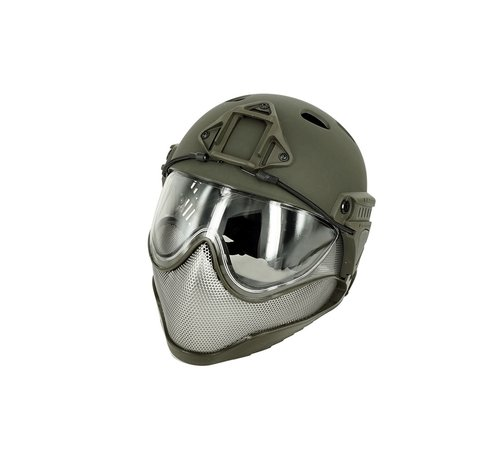 WARQ Full Face Mask & Helmet (Olive)