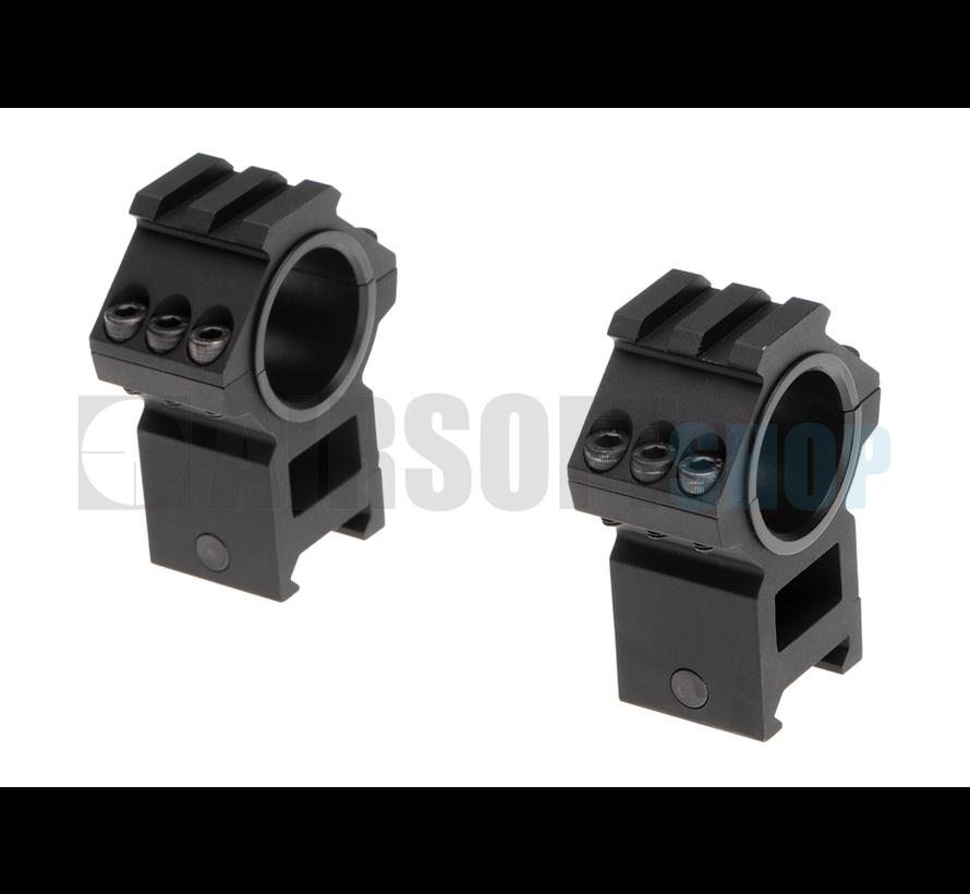 Top Rail 25.4mm / 30mm Mount Rings (Black)
