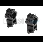 Aim-O Top Rail 25.4mm / 30mm Mount Rings (Black)