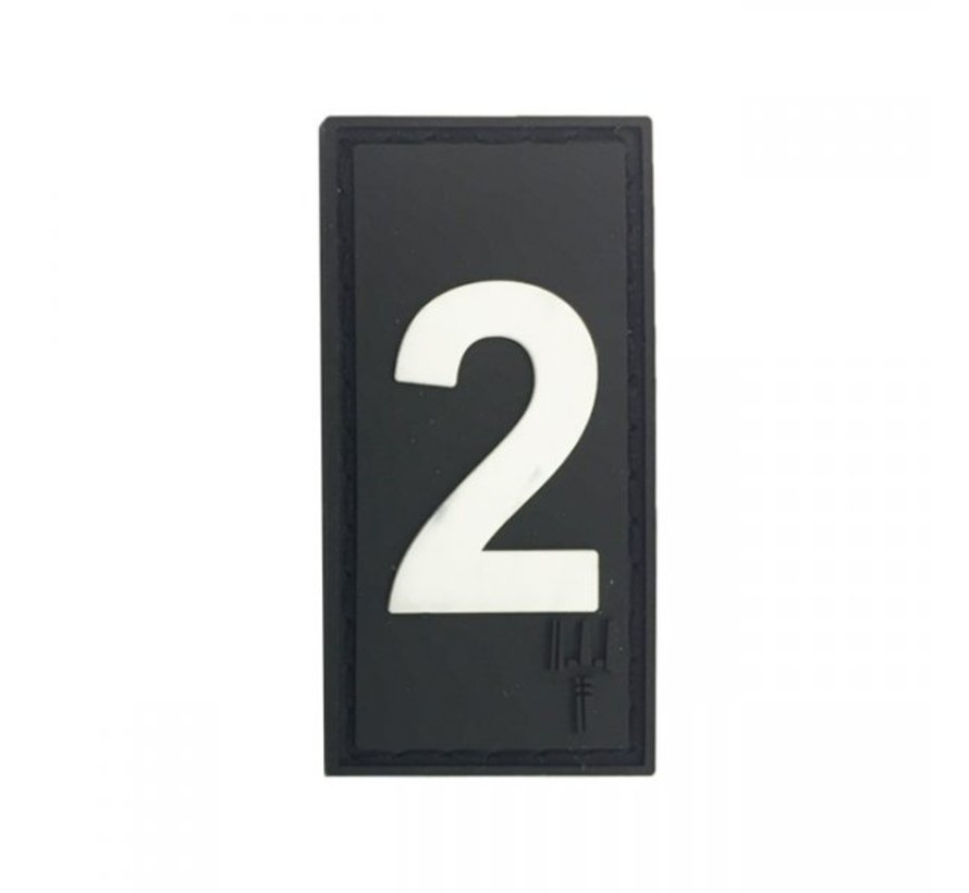 Number 2 Patch (Black)