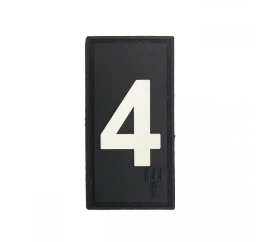 Number 4 Patch (Black)