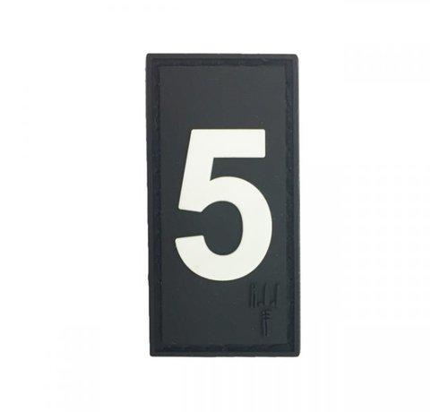 Pitchfork Number 5 Patch (Black)