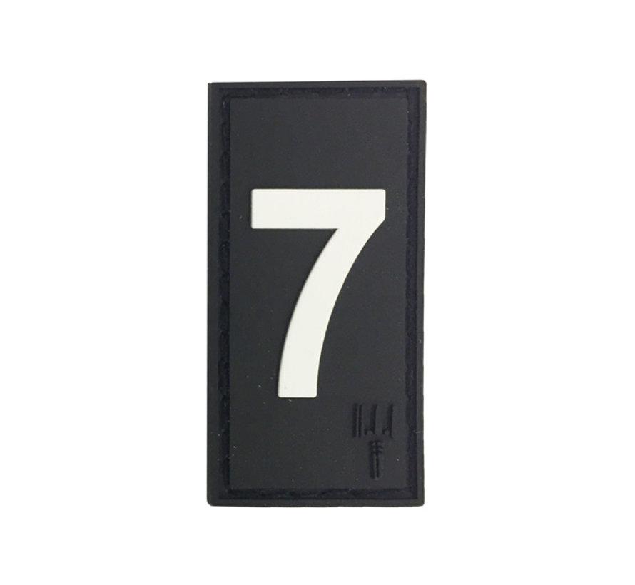 Number 7 Patch (Black)