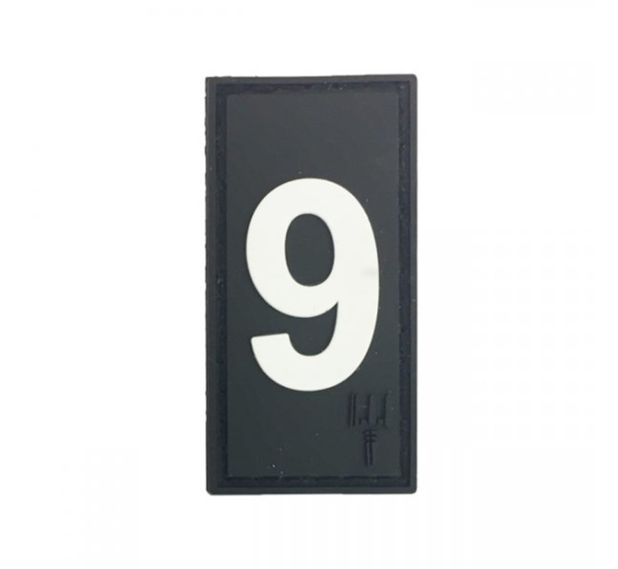 Number 9 Patch (Black)