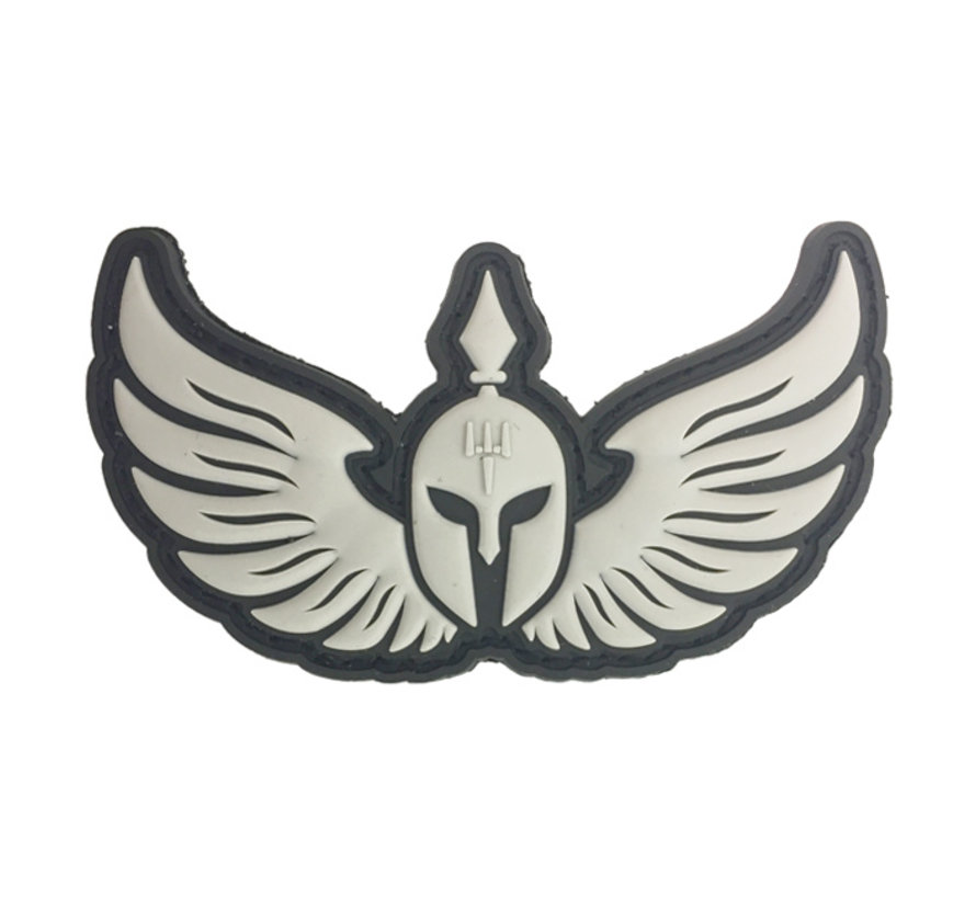 Molon Labe Wings Patch (Black)
