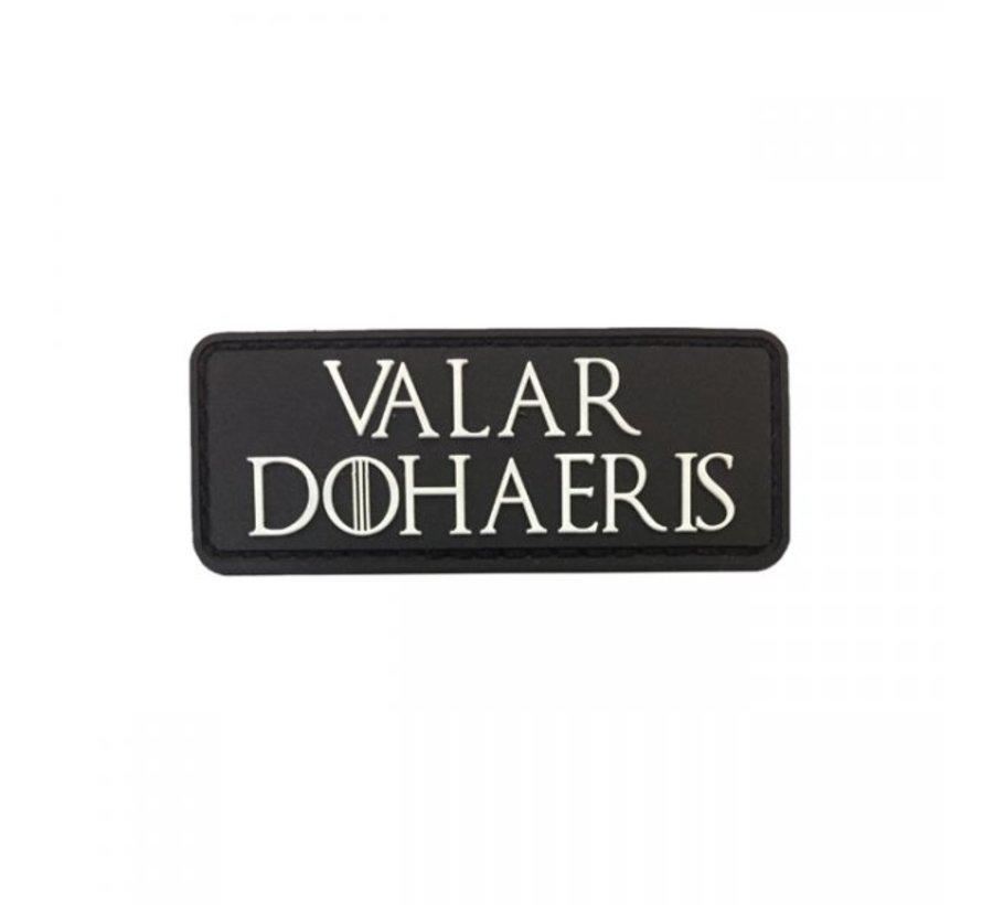 Valar Dohaeris Patch (Black)