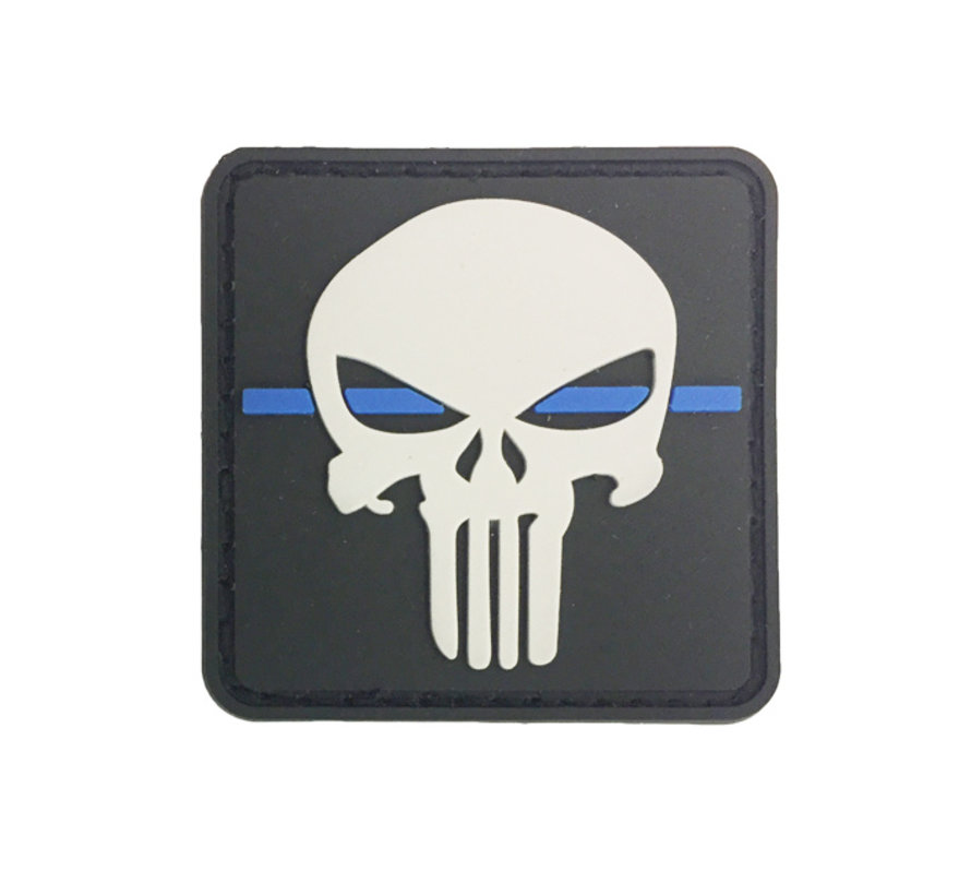 Thin Blue Line Punisher Patch (Black)