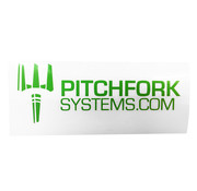 Pitchfork The Brand Sticker Large (Zombie Green)