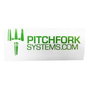 Pitchfork The Brand Sticker Large (Zombie Green)