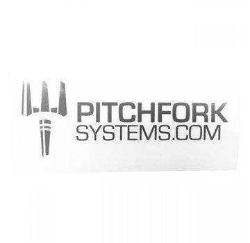 Pitchfork The Brand Sticker Large (Urban Grey)