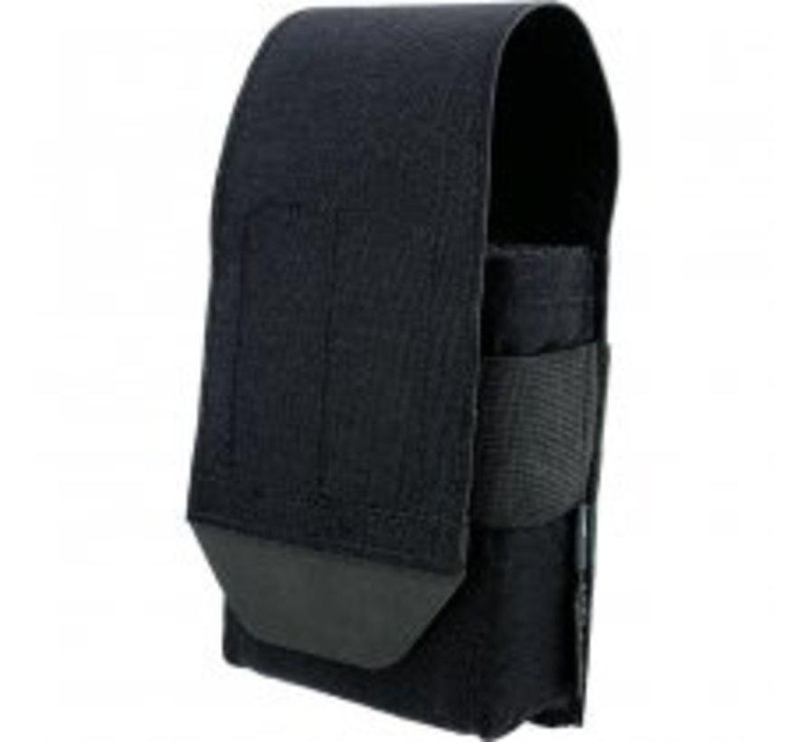Closed Single AR15 Magazine Pouch (Black)