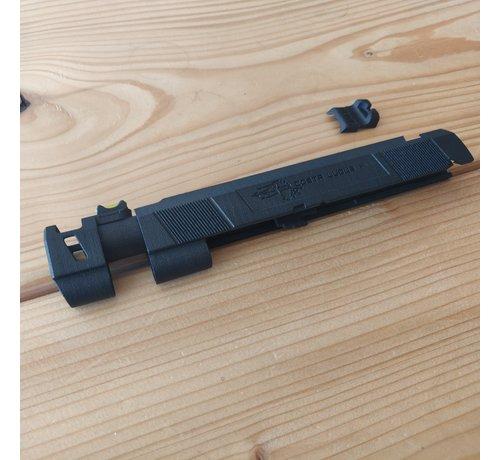 Ken's Props 3D Print Hi-Capa Costa Comp MJF Slide (Black)