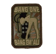 MIL-SPEC MONKEY Bang Em All Patch (Medium / Forest)