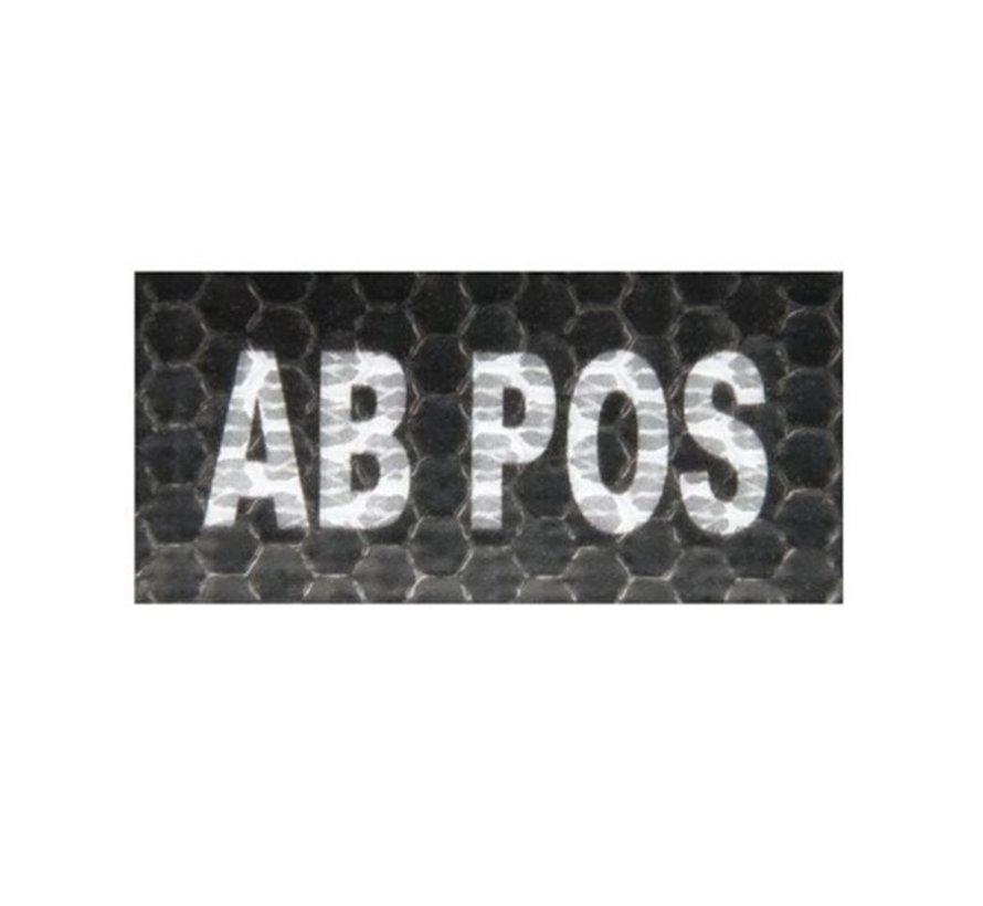 AB Pos IR Patch (Black)