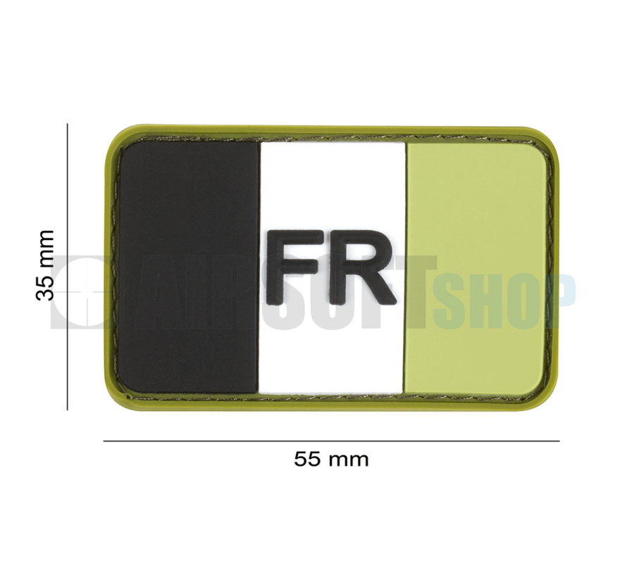 France Flag Rubber Patch (Forest)