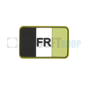 JTG France Flag Rubber Patch (Forest)