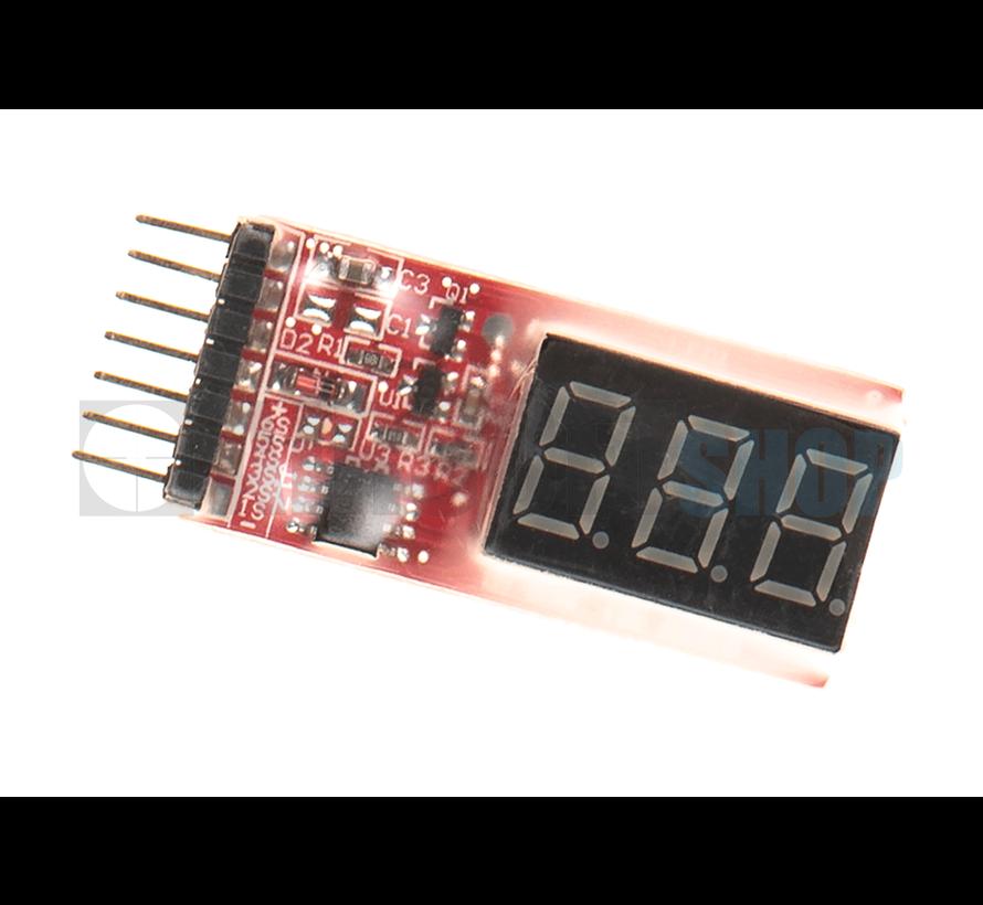 Simple Voltage Display 1-6S Lipo Voltage Meter
