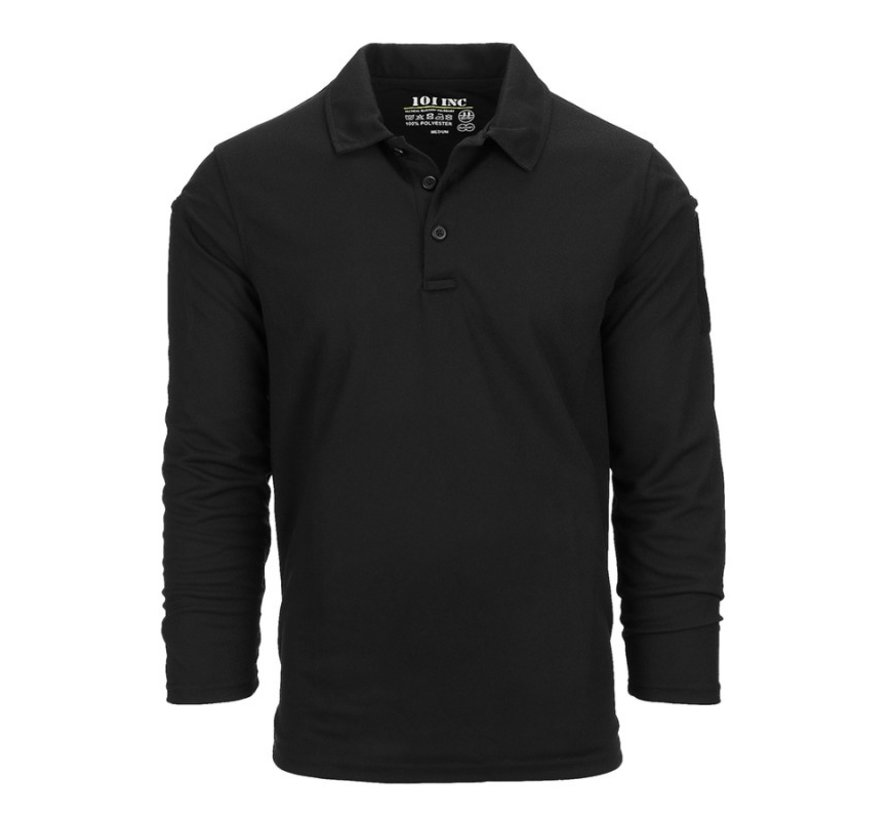 Tactical Polo Quick Dry Long Sleeve (Black)