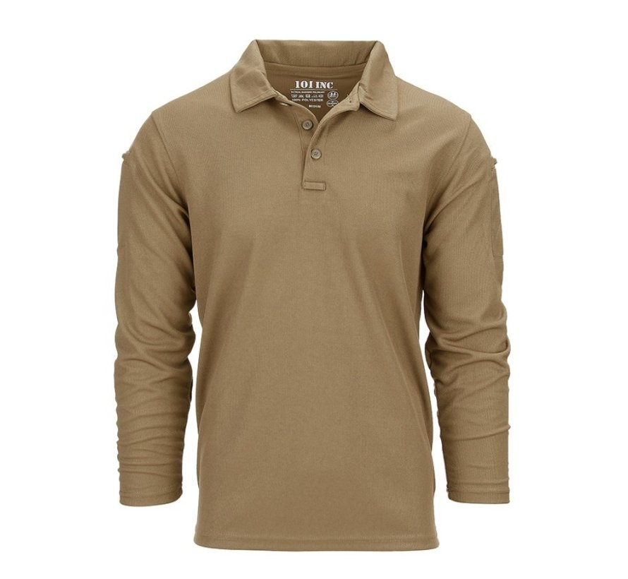 Tactical Polo Quick Dry Long Sleeve (Coyote)