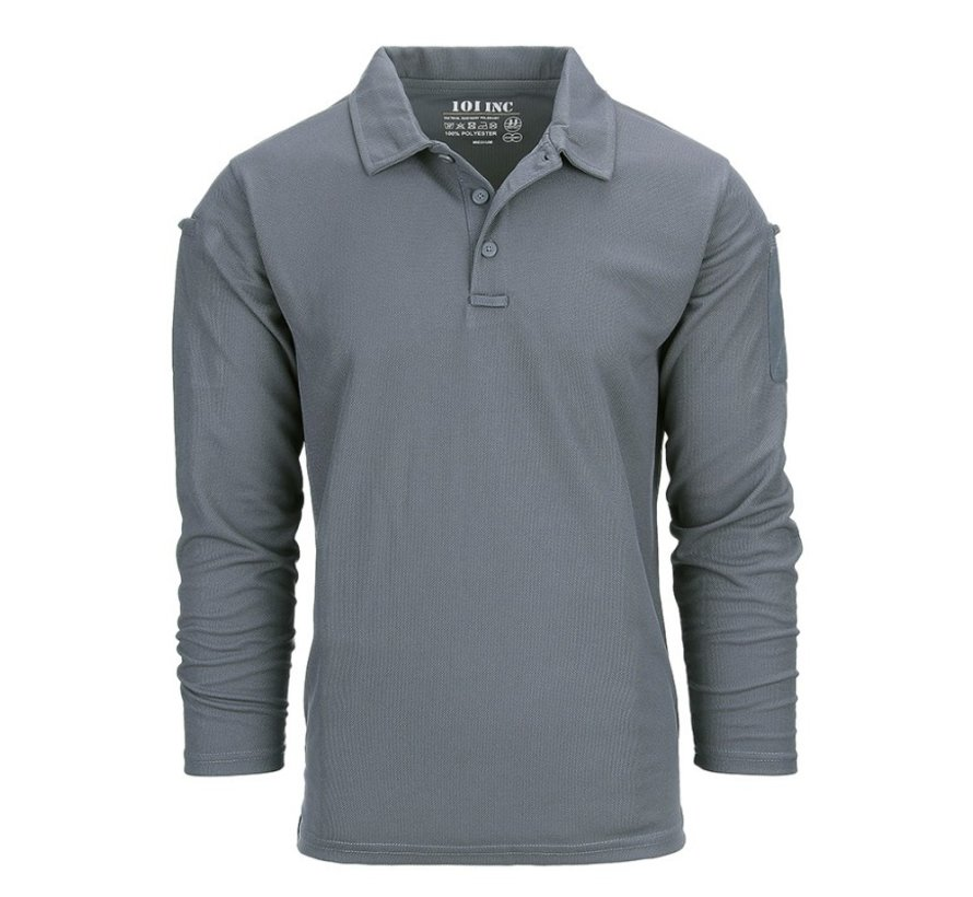 Tactical Polo Quick Dry Long Sleeve (Wolf Grey)