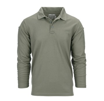 101 Inc Tactical Polo Quick Dry Long Sleeve (Olive)