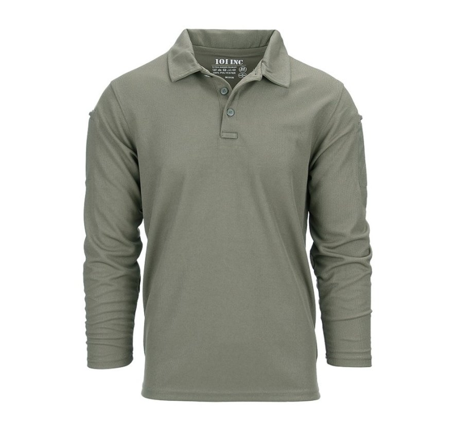Tactical Polo Quick Dry Long Sleeve (Olive)