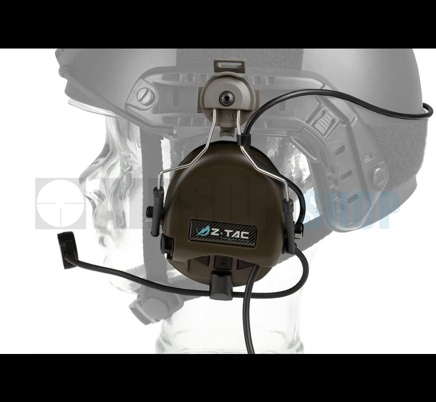 SRD Headset For Fast Helmet (Military Standard Plug) (Foliage Green)