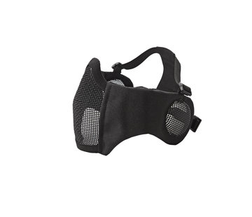 Strike Systems Nylon / Mesh Face Mask With Ear Protection (Black)
