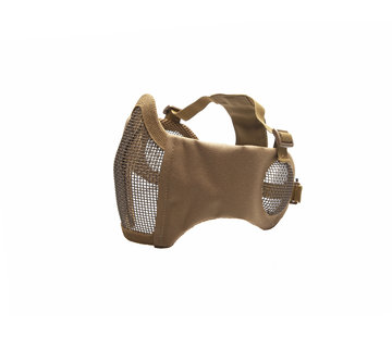Strike Systems Nylon / Mesh Face Mask With Ear Protection (Tan)