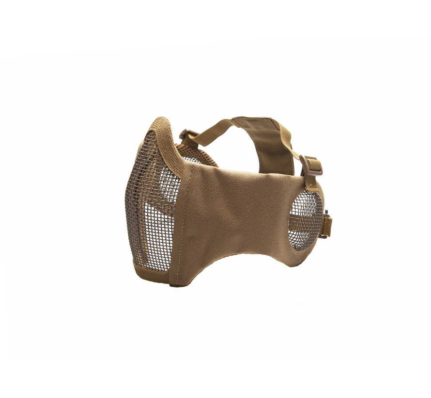 Nylon / Mesh Face Mask With Ear Protection (Tan)