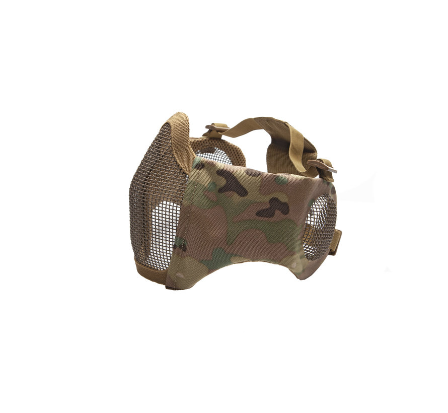 Nylon / Mesh Face Mask With Ear Protection (Multicam)