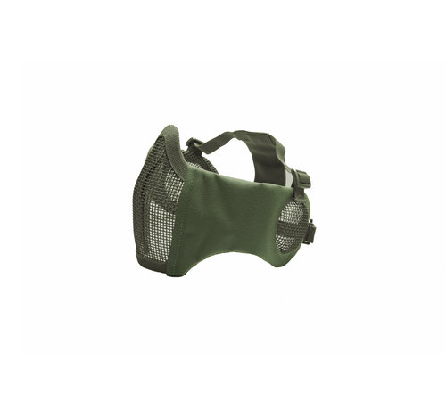 Strike Systems Nylon / Mesh Face Mask With Ear Protection (Olive)