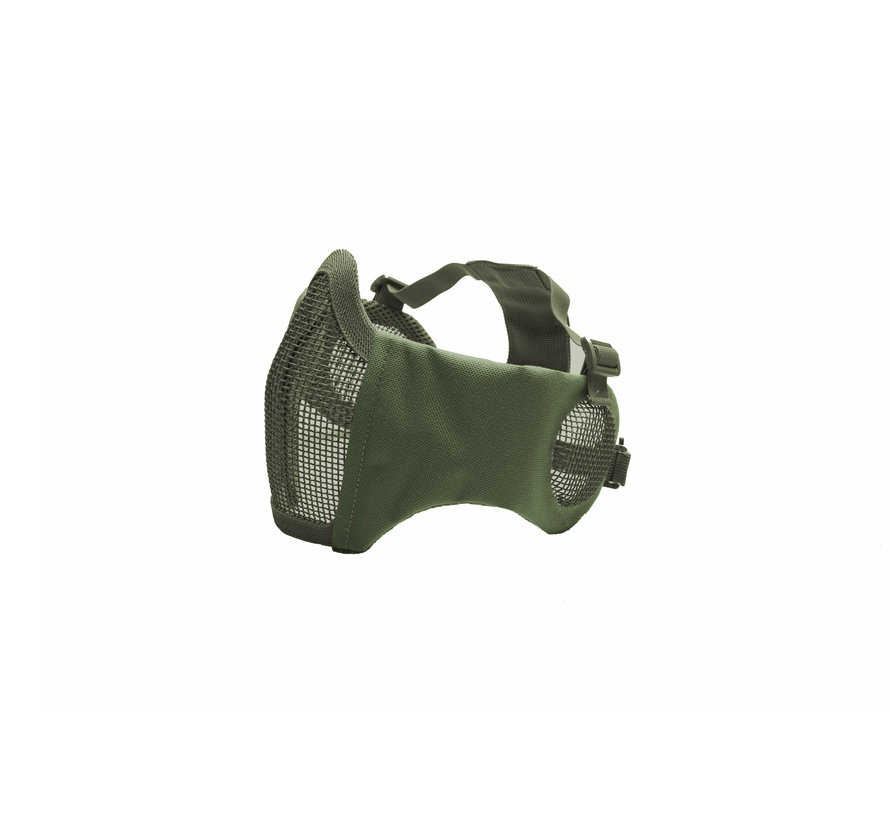Nylon / Mesh Face Mask With Ear Protection (Olive)