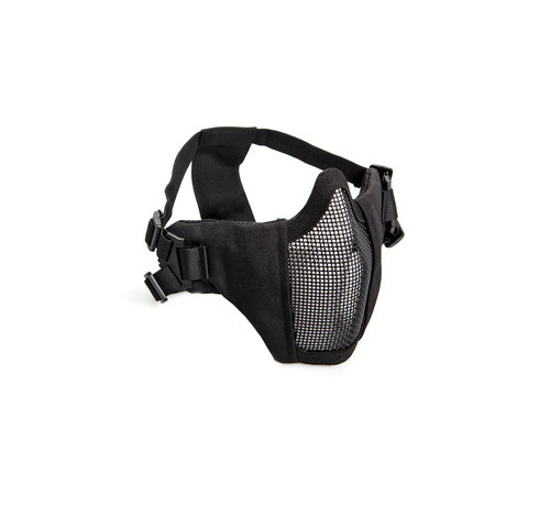 Strike Systems Nylon / Mesh Face Mask With Cheek Pads (Black)