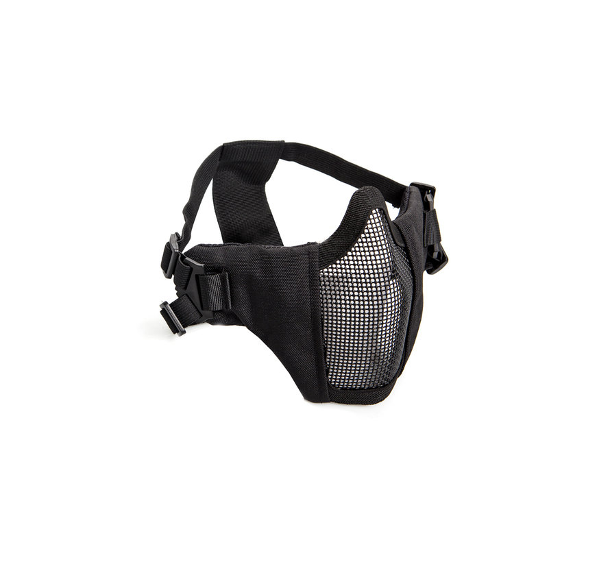 Nylon / Mesh Face Mask With Cheek Pads (Black)