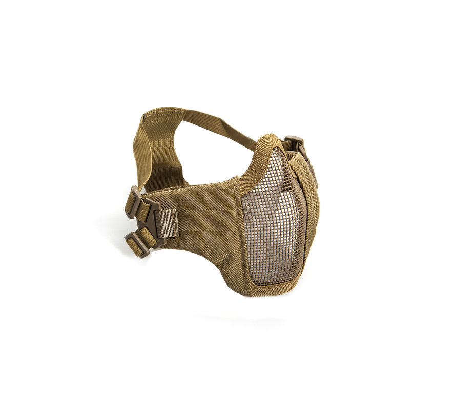Nylon / Mesh Face Mask With Cheek Pads (Tan)