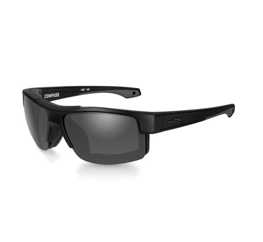 Compass Smoke Grey (Black Frame)