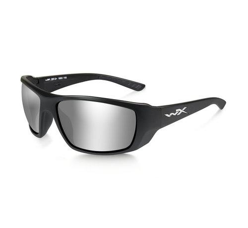 Wiley X Kobe Smoke Grey Silver (Black Frame)